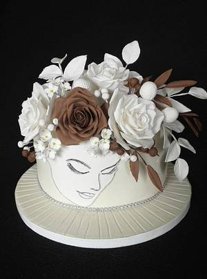 White and brown - Cake by Anka