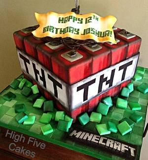 Minecraft - Cake by Sarah Myers