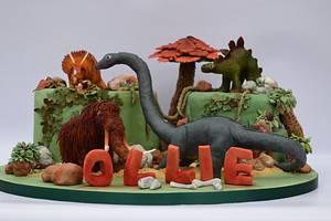 Dinosaur Cake - Cake by Louise at Cake Oddity