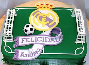 Tarta campo de futbol, Real Madrid _ Tart football field, Real Madrid  - Cake by Machus sweetmeats