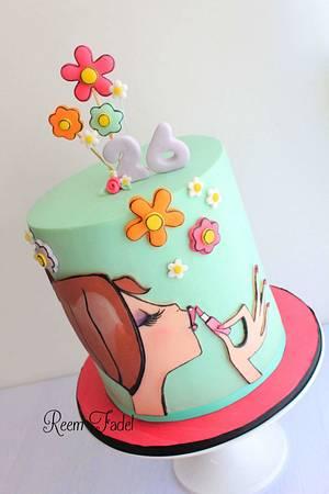 Make up to make her day - Cake by ReemFadelCakes