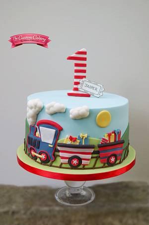 Jasper's Train - Cake by The Custom Cakery