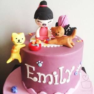 Kitty Cat Birthday Cake - Cake by Heidi