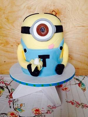 Minion Cake - Cake by SweetAsSugar