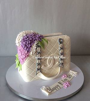 Chanel bag cake - Cake by Couture cakes by Olga