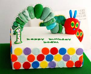 The Very Hungry Caterpillar Cake - Cake by Zelicious