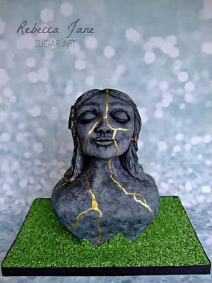 Kintsukuroi - to repair with gold - Cake by Rebecca Jane Sugar Art