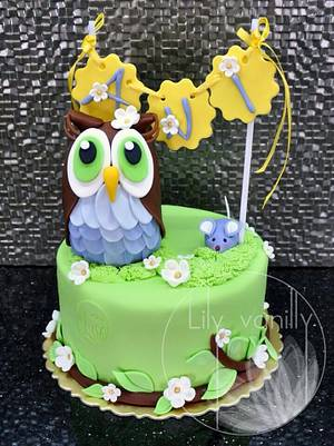 OWL and MOUSE - Best Friends Forever:) - Cake by Lily Vanilly