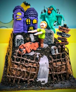 Spooky Scooby Doo cake - Cake by Coffelover
