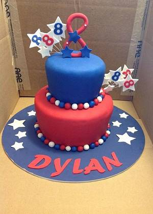 Fourth of July Birthday Cake  - Cake by Gotta Make The Cupcakes (Michelle)