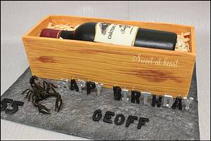 Wine bottle - Cake by Cakes by Rasa
