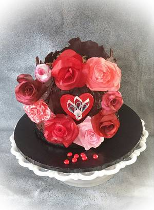 "❤ Decadent Valentine's Cake ❤ - Cake by June (""Clarky's Cakes"")"
