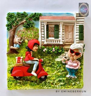 Once upon today/ Little Red Riding Hood and her grandmother - Cake by Emine