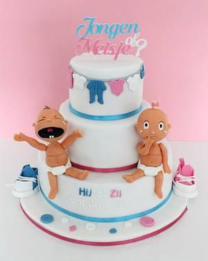 Gender reveal cake - Cake by Slindt