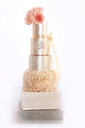 Just Peachy! - 5 tiers of wedded bliss. - Cake by misscouture
