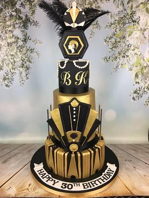 Great Gatsby 30th birthday cake  - Cake by Melanie Jane Wright
