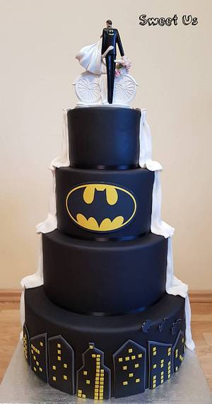 Batman wedding cake - Cake by Gabriela Doroghy