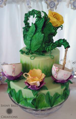 Sugar Artist Tea Party - Cake by Shiny Ball Cakes & Creations (Rose)