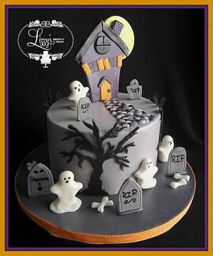 Haunted house - Cake by Elizabeth