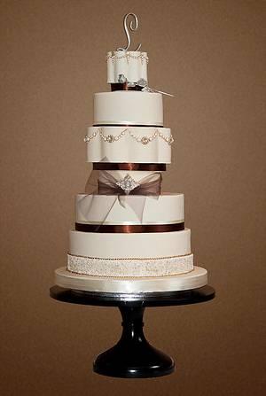 "The Sugar Nursery's ""Stephanie"" Wedding Cake - Cake by The Sugar Nursery - Cake Shop & Imaginarium"