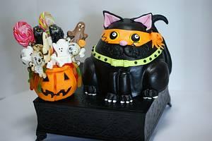Halloween Fat Cat - Cake by Margie