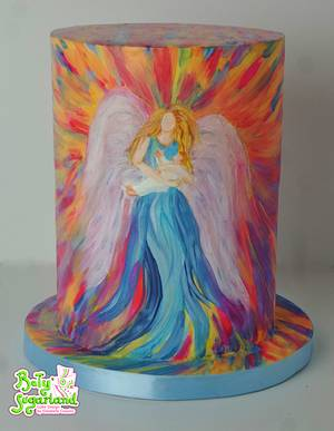 In the Arms of an Angel - Sweet Art for World Light Day 2017 - Cake by Bety'Sugarland by Elisabete Caseiro