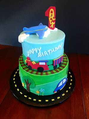 Planes, Trains and Automobiles! - Cake by Lydia Clark