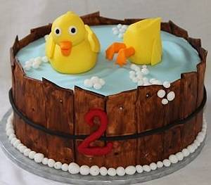 Rubber ducky you're the one - Cake by lostincakes