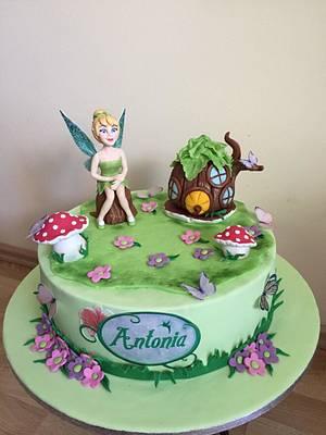 Tinker Bell cake - Cake by Gabriela Doroghy