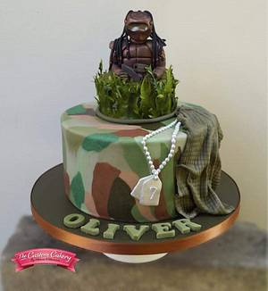 Camouflage Laser Combat - Cake by The Custom Cakery