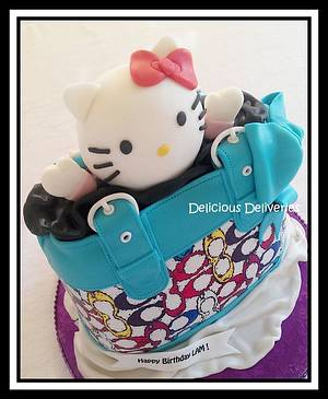 Hello Kitty Coach Purse Cake - Cake by DeliciousDeliveries