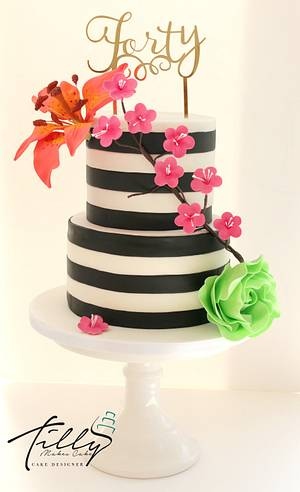 Kate Spade Inspired Cake  - Cake by Tillymakes