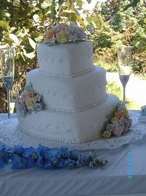Roses and hearts - Cake by marcar2m