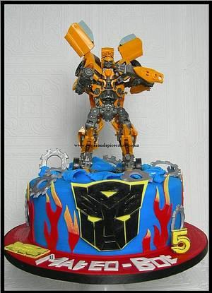 Transformers - Autobot BumbleBee - Cake by Mel_SugarandSpiceCakes