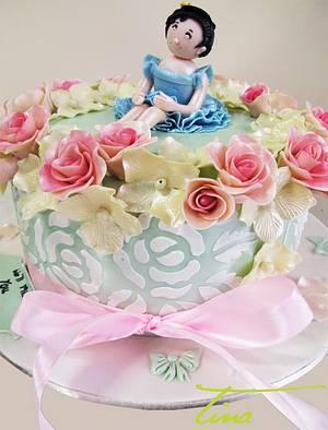 Flower Girl - Cake by Tina Jadav