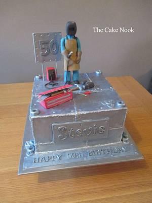 Welding Cake - Cake by Zoe White