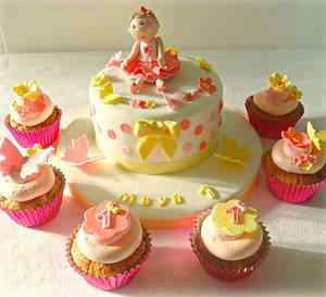 Little girls first birthday - Cake by claire mcdonough