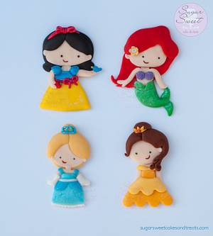 Little Disney Princess Toppers - Cake by Angela, SugarSweetCakes&Treats