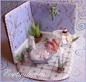 Bathroom cookie - Cake by Evelindecora