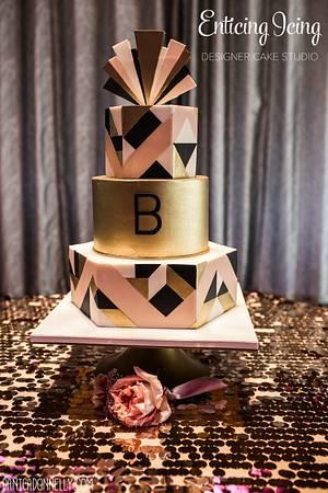 Art Deco Wedding Cake - Cake by Enticing Icing