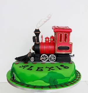 Choo choo!!!!!!! Steam engine train - Cake by Artym