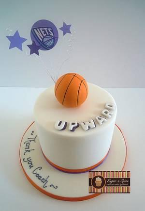 Upward Basketball Cake - Cake by Sugar & Spice Cake Shop