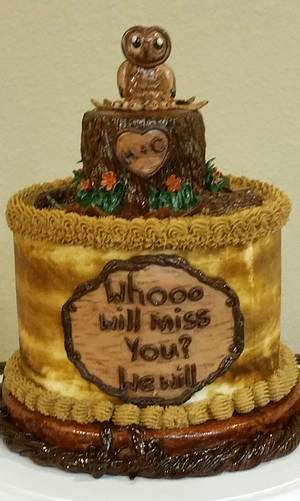 """""""Whooo Will Miss You?"""" - Cake by eiciedoesitcakes"""