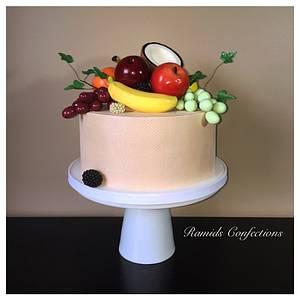 Fondant Fruit Cake - Cake by Ramids