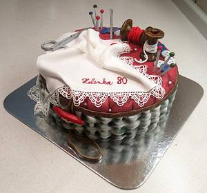 Sewing - Cake by Majka Maruška