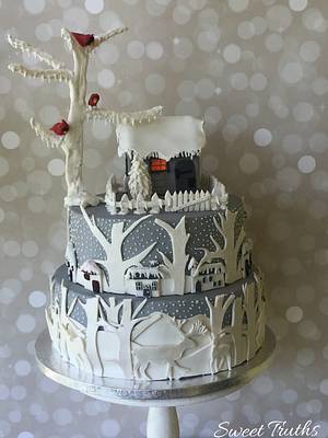 Silvery winter - Cake by Debjani Mishra