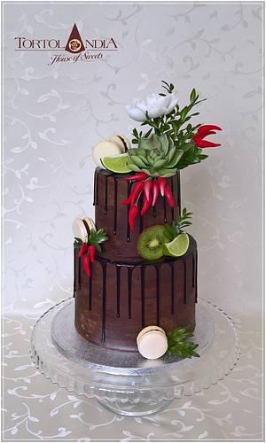 Chocolate birthday cake - Cake by Tortolandia