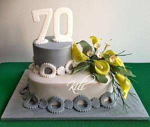 K sedmdesátinám - Cake by kili