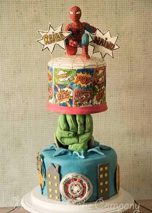 Avengers Assemble - Cake by Smita Maitra (New Delhi Cake Company)