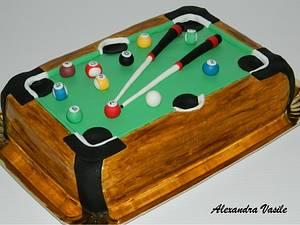 Pool table cake - Cake by alexandravasile